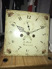 More details for antique longcase grandfather clock 8 day dial & movement
