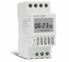 New Listingprogrammable Timer Switch Ac 220v Din Rail Digital Onoff Based Lights Control