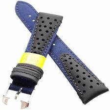 22mm Morellato VOLLEY CORDURA Textile Watch Strap Band Racing Look Navy Blue