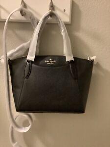 Kate Spade Monica Satchel Crossbody Bag Purse Black Style # WKR00240  NWT