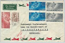 62360 -  INDONESIA - POSTAL HISTORY -  AIRAIL COVER to HOLLAND 1958 - CYCLING