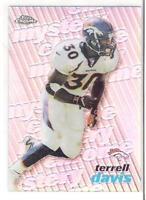 1999 TOPPS CHROME TERRELL DAVIS MYSTERY CHROME REFRACTOR