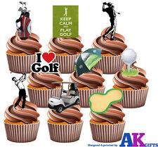 Party Pack - 36 x Golf Balles clubs buggy joueurs mix comestibles glaçages pour gâteau