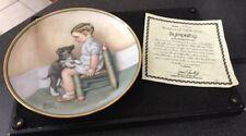 Hamilton Collection Bessie Pease Guttman Collector Plate Sympathy Boy & Dog