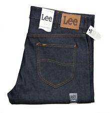 New Lee Straight Leg Selvedge Jeans Raw Denim Men's Sizes