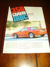 1986 CAMARO IROC-Z 350 ***ORIGINAL 1986 ARTICLE***