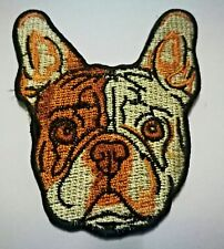 France Bulldog Embroidered Iron On Patch B19