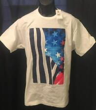 ROCAWEAR MEN'S GRAPHIC TEE SHIRT NEW W TAGS AMERICAN FLAG SIZE L WHITE