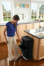 Double Decker 2-in-1 Recycling Modular Trash Bin 13 Gal  with Liner Lock NEW