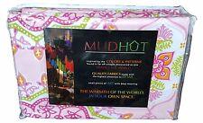 "Mudhut Simla Shower Curtain - Pink, Green, Orange - 72"" x 72"""