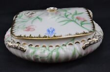 Haviland LImoges 1800's Aesthetic Torse Shape Birds Flowers Fancy Gold Trim