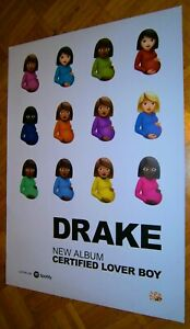 2021 XL (84cm) Promo Poster Certified Lover Boy DRAKE (Aubrey Graham) Rapp R&B