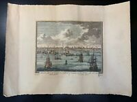 Antique Hand Colored Print / Etching Artist Unknown 18 1/2 X 13 1/2