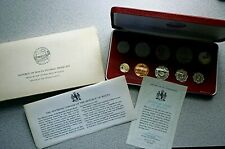 1979 Malta - Official Proof Set (10) w/ Silver Pound - Orig. Pkg, Coa - Rare