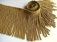 "BTY Decorative 6"" Silky Rayon Gold Bullion Fringe Trim ~ Upholstery Draperies"