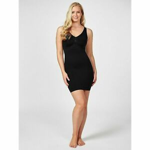 NEW Vercella Strong control Vita Slip Dress - Choice of Size BLACK OR NUDE