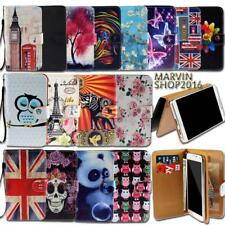 Universal Leather Wallet Card Stand Flip Case Cover For Various Mobile phones