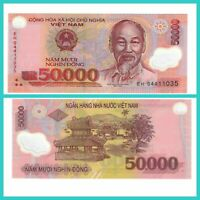 🍀P121 Vietnam 50.000 Dong 2014/17 Unc.AU polymer 5456 Low Shipping Combine Free