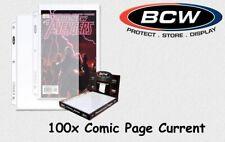 BCW - 100 Comic Book Page - Seiten - 3 Loch - Current & Silver Größe NEU & OVP!