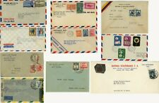 Latin America Airmail Cover Collection Colombia Brazil Costa Rica Ecuador Stamps