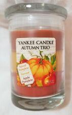 Yankee Candle AUTUMN TRIO 10 oz Spiced Pumpkin Harvest Apple Pumpkin Fall Autumn