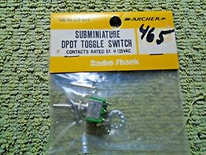 Archer Subminiature DPOT Toggle Switch 275-614