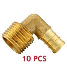 "10 PCS 1/2"" PEX x 1/2"" Male NPT Eblow Brass Crimp Fittings(LEAD-FREE),NSF"