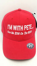 """PETE ROSE Hat-""""I'm With Pete"""" Flex-Fit Hat will fit 7 1/8, 7 1/4, and 7 3/8 Only"""