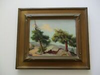 SMALL GEM ANTIQUE EARLY CALIFORNIA IMPRESSIONIST LANDSCAPE PAINTING OIL HISTORIC