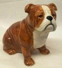 More details for quail ceramic bulldog moneybox or piggy savings bank - animal dog figure model