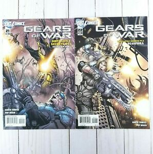 Gears Of War #21 & #22, DC Comics 2012, Rare Find!, Karen Traviss, Pop Mhan