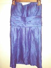 Satin Tiered Strapless Dress size 10