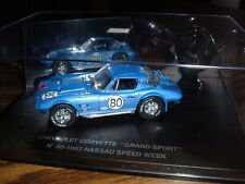 CHEVROLET CORVETTE GRAND SPORT COUPE #80 RACER 1963 NASSAU SPEED WEEK - 1:43