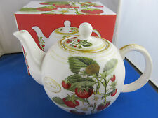 STRAWBERRY FAYRE fine china 35oz Teapot from Leonardo Collection Colour Gift Box