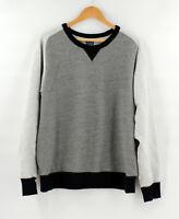 J. Crew Vintage Men's Size XL XLarge Colorblock Raglan Sweatshirt Gray Navy Blue