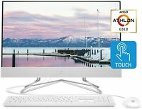 "2020 Flagship HP AIO  23.8"" FHD IPS Touchscreen AMD Athlon Gold 3150U  DVD"