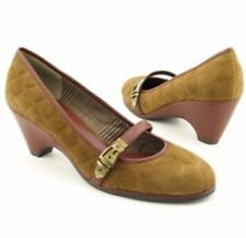 """Etienne Aigner Shoes """"UMA"""" Light Brown QUILTED SUEDE Wedge - Women's 10 M"""