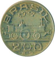 COIN / BRAZIL / 200 REIS 1937      #WT5141