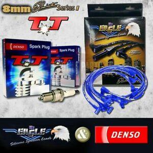 FORD MAVERICK 4.2L TB42 PETROL 88-97 DENSO SPARK PLUGS & EAGLE IGNITION LEADS