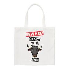 Méfiez-vous fou Bull homme PETIT SAC FOURRE-TOUT - Drôle Animal épaule