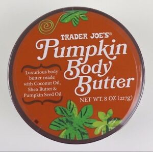 Trader Joe's Pumpkin Body Butter w/ Coconut Oil and Shea Butter Lotion 8oz Jar