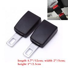 2pcs Auto Car Seat Belt Socket Extender Metal Seat Belt Tongue Buckles Clip