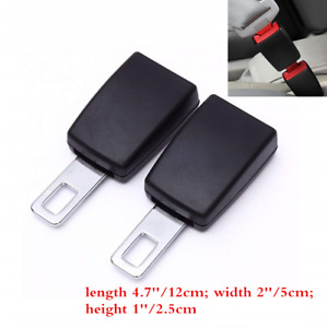 2pcs Auto Car Seat Belt Socket Extender Metal Seat Belt Tongue Buckles Clip