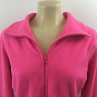 Old Navy Full Zip Fleece Jacket Front Pockets Womens Size M Polyester Pink