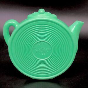 Vintage Green Bakelite Teapot Stand Trivet 1952 Souvenir Adelaide Exhibition Tea