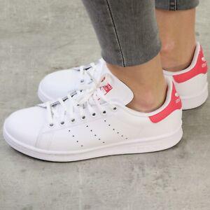 adidas Originals Stan Smith Junior Low Top Sneaker Kinder Damen Weiß EE7573