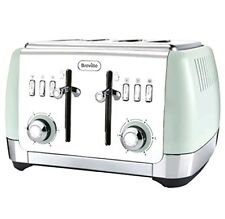 Breville Strata 4 Slice Toaster - Matt Green - VTT768 - 4 Slot Lift & LOOK - NEW