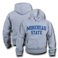 NCAA Morehead State University Hoodie Sweatshirt Game Day Fleece Heather Grey