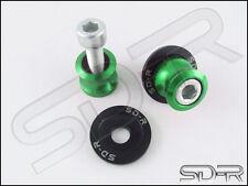 8mm SD-R CNC Machined Swingarm Spools Fits 2018- Kawasaki Ninja 400 / Z400 Green