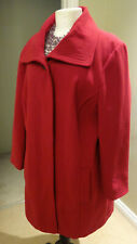Bon Marche' Collection Red Coat Faux Wool UK18, RRP £140